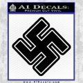 Nazi Swastika Decal Sticker D2 NSDAP Black Vinyl Logo Emblem 120x120