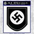 Nazi Swastika P2 Decal Sticker NSDAP Black Vinyl Logo Emblem 120x120