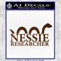 Nessie Decal Sticker Loch Ness Brown Vinyl 120x120