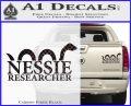 Nessie Decal Sticker Loch Ness Carbon Fiber Black 120x97