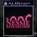 Nessie Decal Sticker Loch Ness Hot Pink Vinyl 120x120