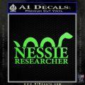 Nessie Decal Sticker Loch Ness Lime Green Vinyl 120x120