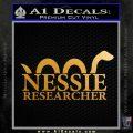 Nessie Decal Sticker Loch Ness Metallic Gold Vinyl 120x120