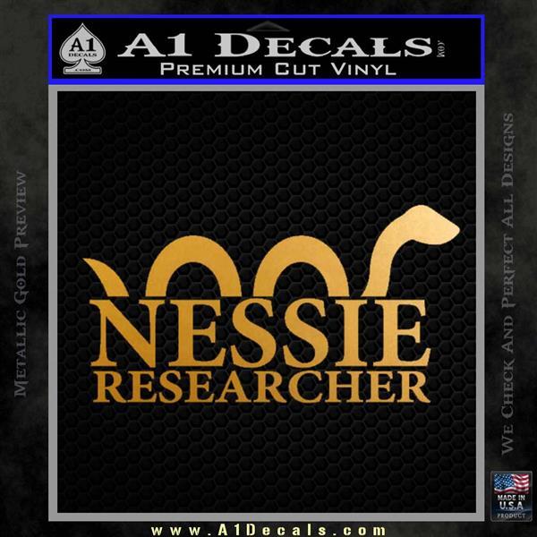 Nessie Decal Sticker Loch Ness Metallic Gold Vinyl