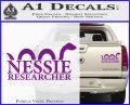 Nessie Decal Sticker Loch Ness Purple Vinyl 120x97