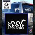 Nessie Decal Sticker Loch Ness White Vinyl Emblem 120x120