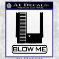 Nintendo Blow Me Video Game Decal Sticker Black Vinyl Logo Emblem 120x120