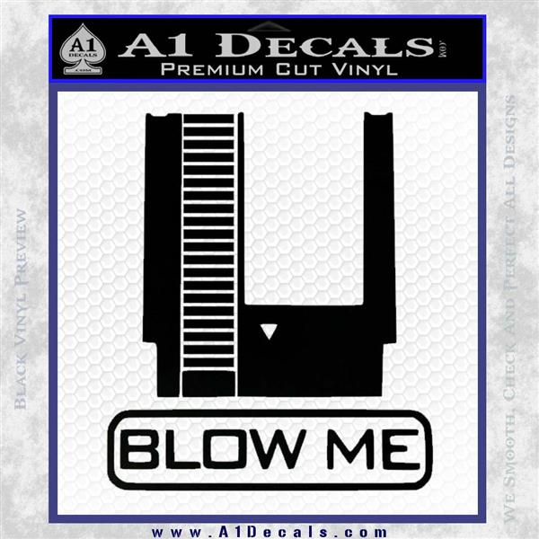Nintendo Blow Me Video Game Decal Sticker » A1 Decals