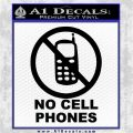 No Cell Phones Decal Sticker Black Vinyl Logo Emblem 120x120