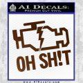 Oh Shit Check Engine Light Decal Sticker Brown Vinyl 120x120