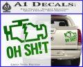 Oh Shit Check Engine Light Decal Sticker Green Vinyl 120x97