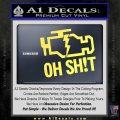 Oh Shit Check Engine Light Decal Sticker Yellow Vinyl 120x120