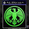 One Punch Man Hero Association Decal Sticker Lime Green Vinyl 120x120