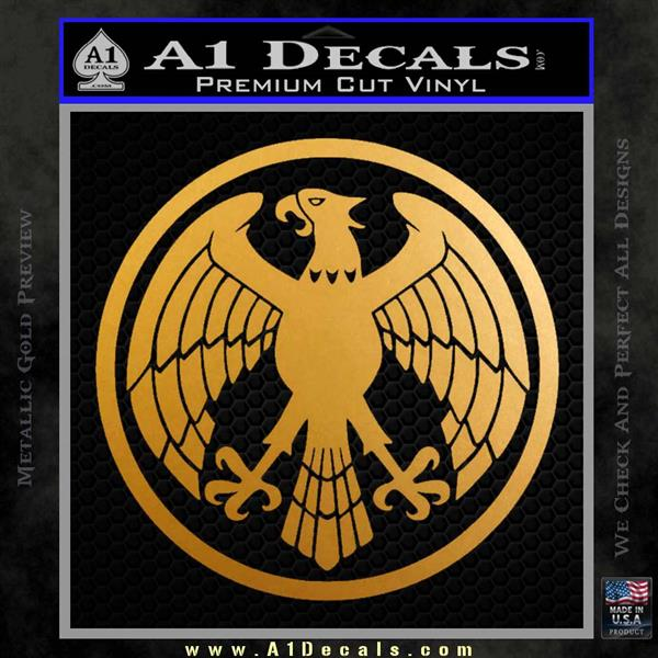 One Punch Man Hero Association Decal Sticker Metallic Gold Vinyl