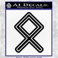Othala Rune Decal Sticker V1 Black Vinyl Logo Emblem 120x120
