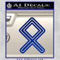 Othala Rune Decal Sticker V1 Blue Vinyl 120x120