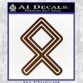 Othala Rune Decal Sticker V1 Brown Vinyl 120x120