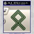 Othala Rune Decal Sticker V1 Dark Green Vinyl 120x120