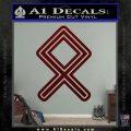 Othala Rune Decal Sticker V1 Dark Red Vinyl 120x120