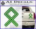 Othala Rune Decal Sticker V1 Green Vinyl 120x97