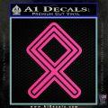 Othala Rune Decal Sticker V1 Hot Pink Vinyl 120x120