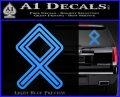 Othala Rune Decal Sticker V1 Light Blue Vinyl 120x97