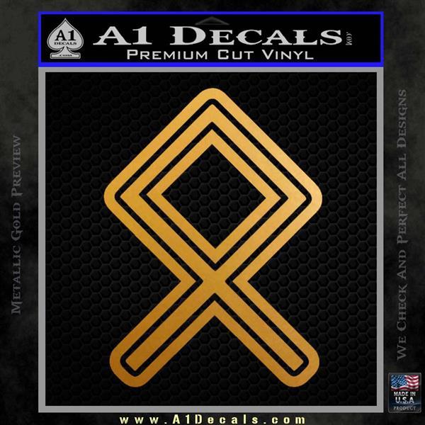 Othala Rune Decal Sticker V1 Metallic Gold Vinyl