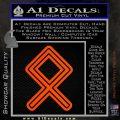 Othala Rune Decal Sticker V1 Orange Vinyl Emblem 120x120