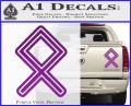 Othala Rune Decal Sticker V1 Purple Vinyl 120x97