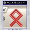 Othala Rune Decal Sticker V1 Red Vinyl 120x120