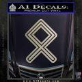 Othala Rune Decal Sticker V1 Silver Vinyl 120x120
