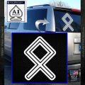 Othala Rune Decal Sticker V1 White Vinyl Emblem 120x120