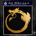 Ouroboros Decal Sticker D1 Metallic Gold Vinyl 120x120
