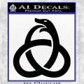 Ouroboros Decal Sticker TRI Black Vinyl Logo Emblem 120x120
