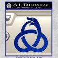 Ouroboros Decal Sticker TRI Blue Vinyl 120x120