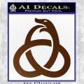 Ouroboros Decal Sticker TRI Brown Vinyl 120x120