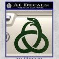 Ouroboros Decal Sticker TRI Dark Green Vinyl 120x120
