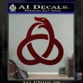 Ouroboros Decal Sticker TRI Dark Red Vinyl 120x120