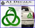 Ouroboros Decal Sticker TRI Green Vinyl 120x97