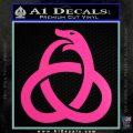Ouroboros Decal Sticker TRI Hot Pink Vinyl 120x120