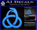 Ouroboros Decal Sticker TRI Light Blue Vinyl 120x97