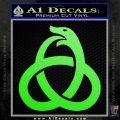 Ouroboros Decal Sticker TRI Lime Green Vinyl 120x120