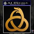 Ouroboros Decal Sticker TRI Metallic Gold Vinyl 120x120