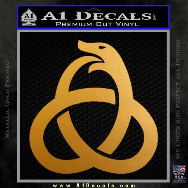 Ouroboros Decal Sticker TRI Metallic Gold Vinyl
