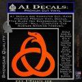 Ouroboros Decal Sticker TRI Orange Vinyl Emblem 120x120