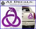 Ouroboros Decal Sticker TRI Purple Vinyl 120x97