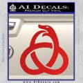 Ouroboros Decal Sticker TRI Red Vinyl 120x120