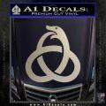 Ouroboros Decal Sticker TRI Silver Vinyl 120x120