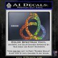 Ouroboros Decal Sticker TRI Sparkle Glitter Vinyl Sparkle Glitter 120x120