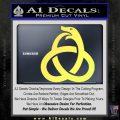 Ouroboros Decal Sticker TRI Yellow Vinyl 120x120